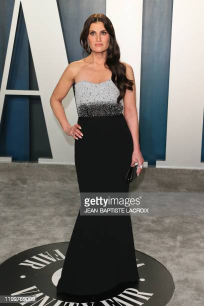 Actress-singer Idina Menzel attends the 2020 Vanity Fair Oscar Party following the 92nd Oscars at The Wallis Annenberg Center for the Performing Arts...