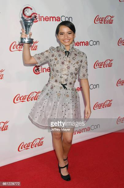 Actress/singer Isabela Moner attends the CinemaCon Big Screen Achievement Awards at Omnia Nightclub at Caesars Palace during CinemaCon, the official...
