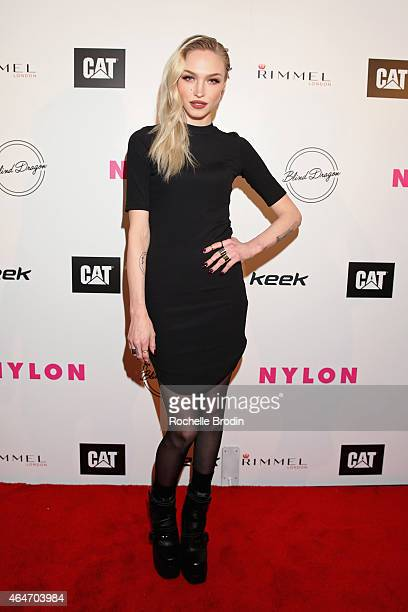 Actress/singer Ivy Levan attends NYLON Magazine's Spring Fashion Issue Celebration hosted by Rita Ora at Blind Dragon on February 27, 2015 in West...