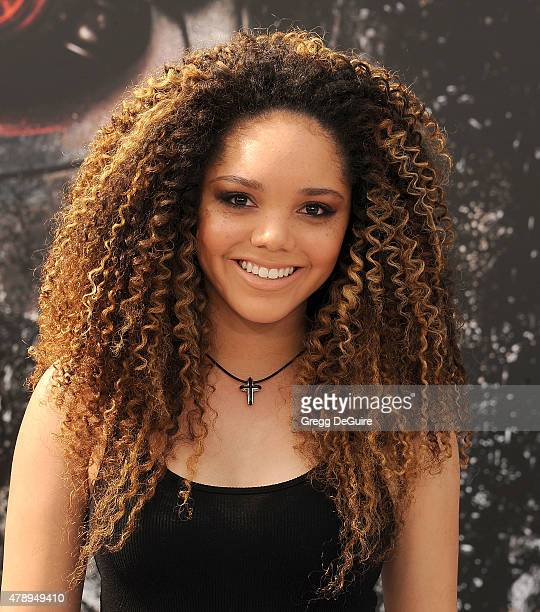 Actress/singer Jadagrace arrives at the Los Angeles premiere of 'Terminator Genisys' at Dolby Theatre on June 28 2015 in Hollywood California