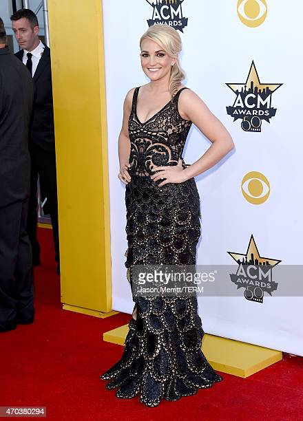 Actress/singer Jamie Lynn Marie Spears Watson attends the 50th Academy of Country Music Awards at ATT Stadium on April 19 2015 in Arlington Texas