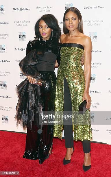 Actress/singer Janelle Monae and actress Naomie Harris attend the 26th Annual Gotham Independent Film Awards at Cipriani Wall Street on November 28...