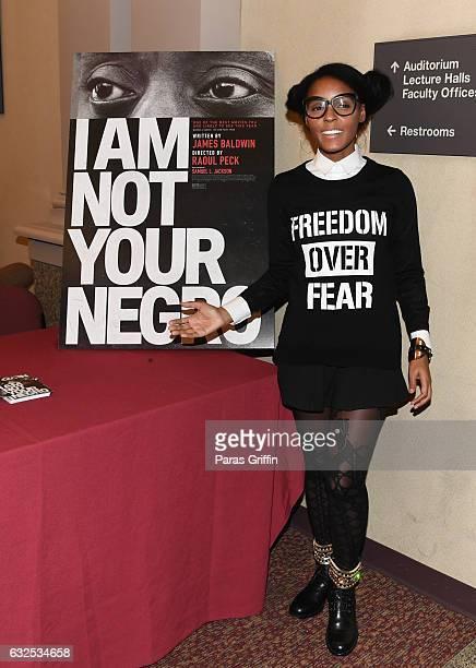 Actress/singer Janelle Monae attends I Am Not Your Negro Atlanta screening at Morehouse College on January 23 2017 in Atlanta Georgia