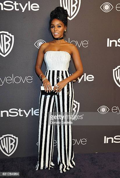Actress/singer Janelle Monáe attends The 2017 InStyle and Warner Bros 73rd Annual Golden Globe Awards PostParty at The Beverly Hilton Hotel on...