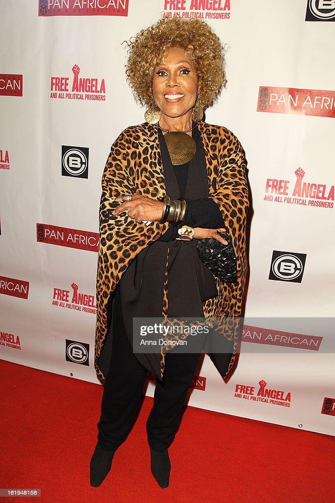 Actress/singer Ja'net Du Bois attends the closing night at the Pan African film festival 'Free Angela And All Political Prisoners' at Rave Cinemas on February 17, 2013 in Los Angeles, California.
