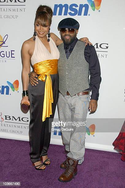 Actress/Singer Janet Jackson and Producer Jermaine Dupri attend the 2008 Clive Davis PreGRAMMY party at the Beverly Hilton Hotel on February 9 2008...