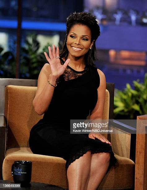 Actress/singer Janet Jackson appears on the Tonight Show With Jay Leno at NBC Studios on January 9 2012 in Burbank California