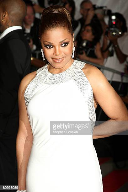 Actress/singer Janet Jackson arrive at the Metropolitan Museum of Art Costume Institute Gala Superheroes Fashion and Fantasy held at the Metropolitan...