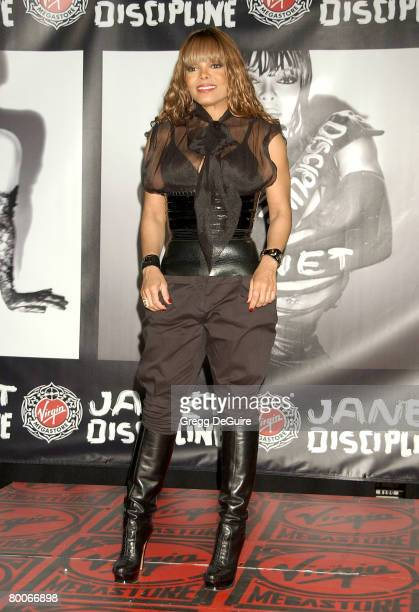 Actress/singer Janet Jackson instore appearance in support of her new CD Discipline at the Virgin Megastore on February 28 2008 in Hollywood...