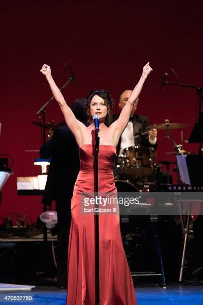 Actress/Singer Jean Louisa Kelly performs at One Starry NightFrom Broadway to Hollywood In Support of Golden West Chapter of the ALS Association at...