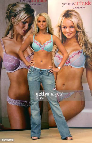 Actress/singer Jennifer Ellison launches the new Spring/Summer 2005 Young Attitude lingerie collection at Debenhams Oxford Street on March 30 2005 in...