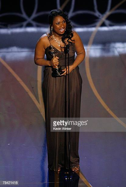 TELECAST*** Actress/singer Jennifer Hudson accepts the award for Best Supporting Actress during the 79th Annual Academy Awards at the Kodak Theatre...