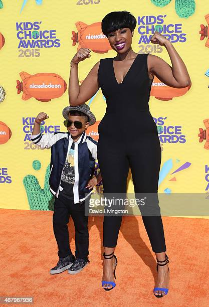 Actress/singer Jennifer Hudson and son David Daniel Otunga Jr attend Nickelodeon's 28th Annual Kids' Choice Awards at The Forum on March 28 2015 in...