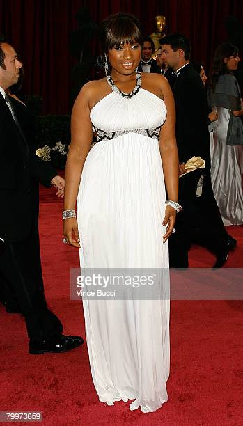 Actress/singer Jennifer Hudson arrives at the 80th Annual Academy Awards held at the Kodak Theatre on February 24, 2008 in Hollywood, California.