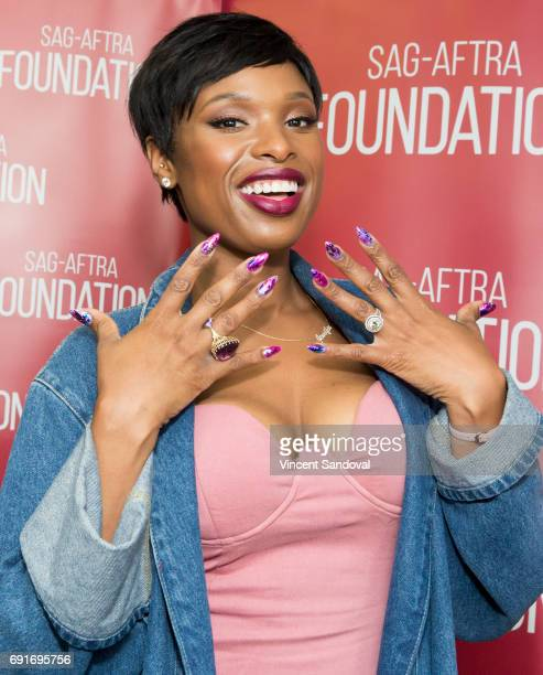 Actress/singer Jennifer Hudson attends SAGAFTRA Foundation's Conversations with 'Hairspray Live' at SAGAFTRA Foundation Screening Room on June 2 2017...