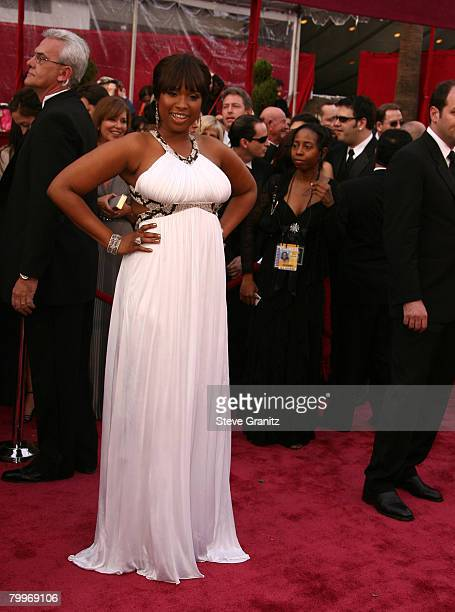 Actress-singer Jennifer Hudson attends the 80th Annual Academy Awards at the Kodak Theatre on February 24, 2008 in Los Angeles, California.