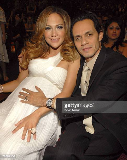 Actress/Singer Jennifer Lopez and Actor/Singer Marc Anthony at Conde Nast Media Group presents Movies Rock at the Kodak Theater on December 2 2007 in...