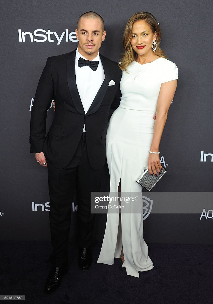 Actress/singer Jennifer Lopez and Casper Smart arrive at the 2016 InStyle And Warner Bros. 73rd Annual Golden Globe Awards Post-Party at The Beverly Hilton Hotel on January 10, 2016 in Beverly Hills, California.