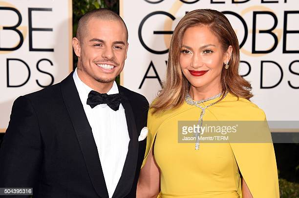Actress/singer Jennifer Lopez and Casper Smart attend the 73rd Annual Golden Globe Awards held at the Beverly Hilton Hotel on January 10 2016 in...