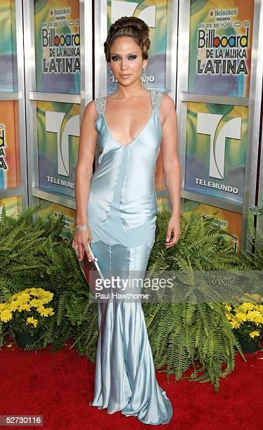 Actress/singer Jennifer Lopez arrives at the 2005 Billboard Latin Music Awards at the Miami Arena April 28, 2005 in Miami, Florida.