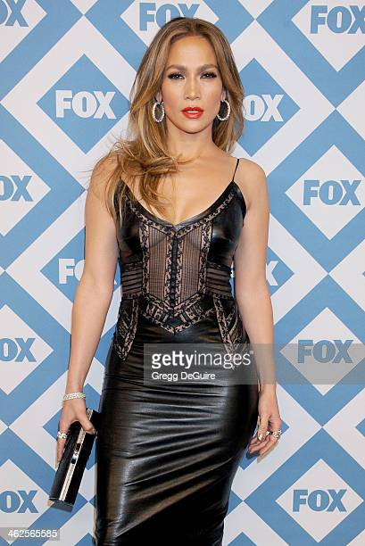 Actress/singer Jennifer Lopez arrives at the 2014 TCA winter press tour FOX allstar party at The Langham Huntington Hotel and Spa on January 13 2014...