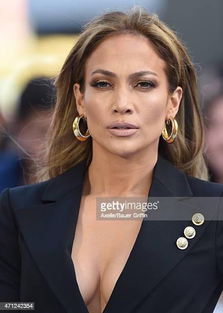 Actress/singer Jennifer Lopez arrives at the 2015 MTV Movie Awards at Nokia Theatre LA Live on April 12 2015 in Los Angeles California