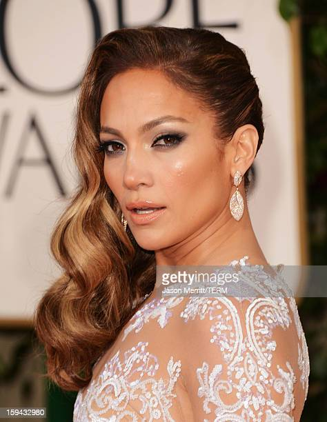 Actress/singer Jennifer Lopez arrives at the 70th Annual Golden Globe Awards held at The Beverly Hilton Hotel on January 13 2013 in Beverly Hills...