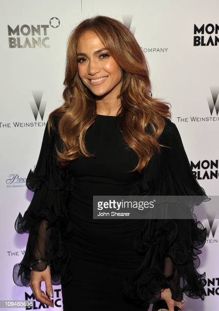 Actress/Singer Jennifer Lopez arrives at the Montblanc Cocktail Party cohosted by Harvey and Bob Weinstein celebrating the Weinstein Company's...