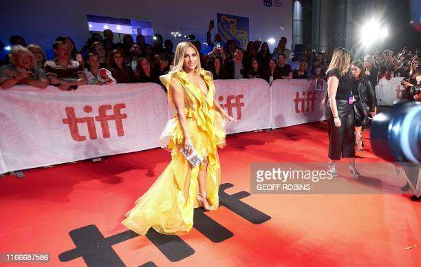 Actress/singer Jennifer Lopez arrives for the premiere of Hustlers during the 2019 Toronto International Film Festival Day 3 on September 7 in...