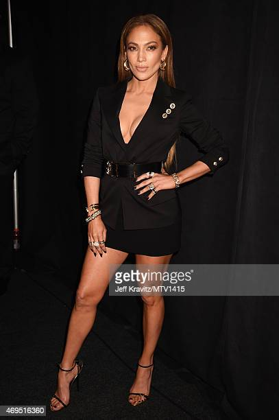 Actress/singer Jennifer Lopez attends The 2015 MTV Movie Awards at Nokia Theatre L.A. Live on April 12, 2015 in Los Angeles, California.