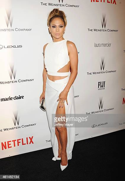 Actress/singer Jennifer Lopez attends the 2015 Weinstein Company and Netflix Golden Globes After Party at Robinsons May Lot on January 11 2015 in...