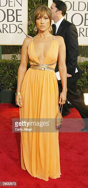 Actress/Singer Jennifer Lopez attends the 61st Annual Golden Globe Awards at the Beverly Hilton Hotel on January 25 2004 in Beverly Hills California
