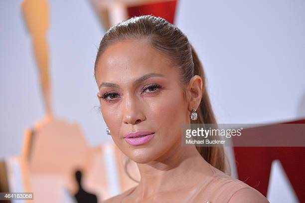 Actress/singer Jennifer Lopez attends the 87th Annual Academy Awards at Hollywood Highland Center on February 22 2015 in Hollywood California