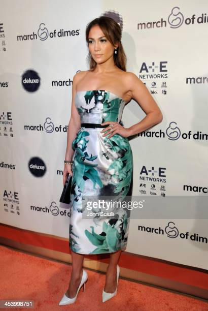 Actress/Singer Jennifer Lopez attends the March of Dimes Celebration of Babies Luncheon at Beverly Hills Hotel on December 6, 2013 in Beverly Hills,...