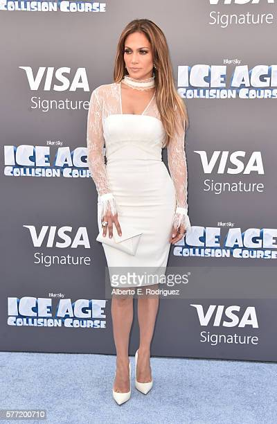 Actress/singer Jennifer Lopez attends the screening of 'Ice Age Collision Course' at Zanuck Theater at 20th Century Fox Lot on July 16 2016 in Los...