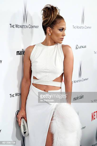 Actress/singer Jennifer Lopez attends The Weinstein Company Netflix's 2015 Golden Globes After Party presented by FIJI Water Lexus Laura Mercier and...