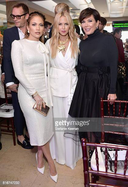 Actress/singer Jennifer Lopez designer Rachel Zoe and TV personality Kris Jenner attend The Daily Front Row 'Fashion Los Angeles Awards' 2016 at...