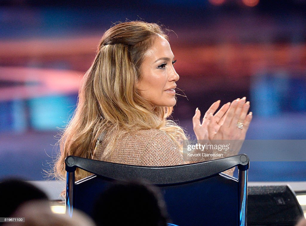 Actress/singer Jennifer Lopez onstage during FOX's 'American Idol' Finale For The Farewell Season at Dolby Theatre on April 7, 2016 in Hollywood, California. at Dolby Theatre on April 7, 2016 in Hollywood, California.