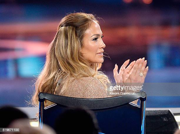 Actress/singer Jennifer Lopez onstage during FOX's American Idol Finale For The Farewell Season at Dolby Theatre on April 7 2016 in Hollywood...