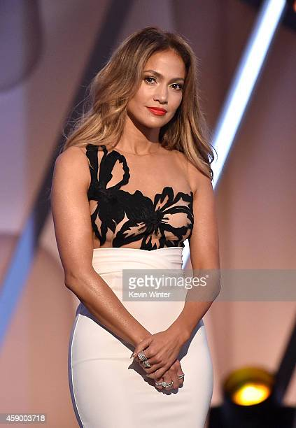 Actresssinger Jennifer Lopez speaks onstage during the 18th Annual Hollywood Film Awards at The Palladium on November 14 2014 in Hollywood California