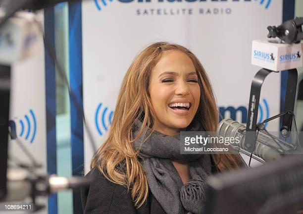 Actress/singer Jennifer Lopez visits the SiriusXM Studio on February 1, 2011 in New York City.