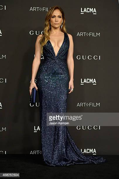 Actress-singer Jennifer Lopez, wearing Gucci, attends the 2014 LACMA Art + Film Gala honoring Barbara Kruger and Quentin Tarantino presented by Gucci...