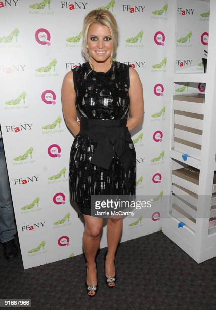 Actress/Singer Jessica Simpson attends the 16th Annual QVC Presents FFANY Shoes On Sale event at Frederick P. Rose Hall, Jazz at Lincoln Center on...