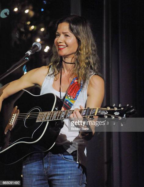 Actress/singer Jill Hennessy performs at at City Vineyard at Pier 26 on April 5 2017 in New York City