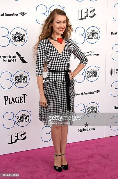 Actress/singer Joanna Newsom attends the 2015 Film Independent Spirit Awards at Santa Monica Beach on February 21 2015 in Santa Monica California