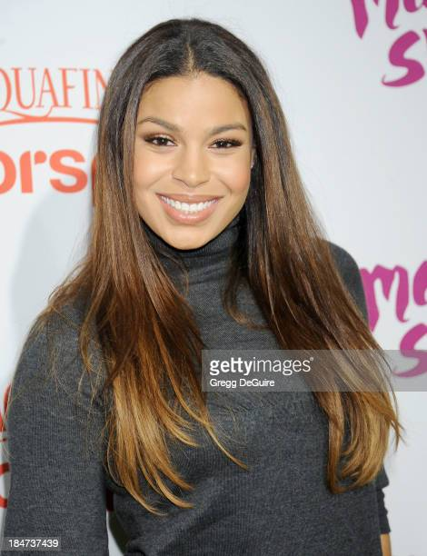 Actress/singer Jordin Sparks arrives at the Aquafina FlavorSplash Launch Party at Sony Pictures Studios on October 15 2013 in Culver City California