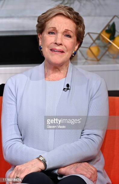 """Actress/singer Julie Andrews visit BuzzFeed's """"AM To DM"""" on October 15, 2019 in New York City."""