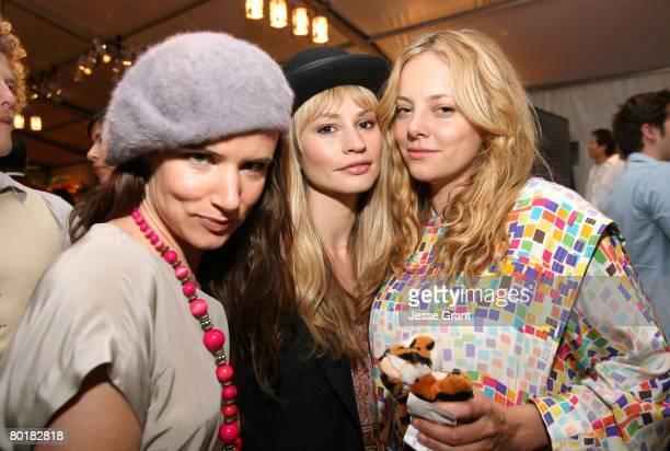 Actress/singer Juliette Lewis actress Cameron Richardson and actress Bijou Phillips attend MercedesBenz Fashion Week held at Smashbox Studios on...