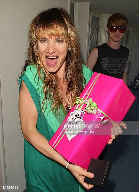 MALIBU CA JULY 01 Actress/singer Juliette Lewis poses during Juliette Lewis' Birthday Celebration at The Project Beach House in Malibu California on...