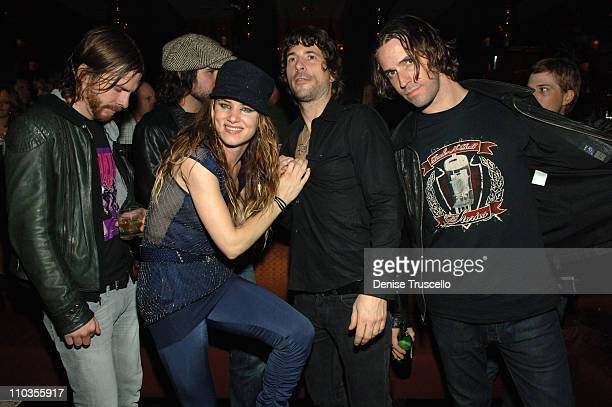 Actress/singer Juliette Lewis The Licks and Ronnie Vanucci from The Killers attend an after party at Jet Nightclub at The Mirage Hotel and Casino...